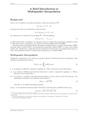 MultiquadricInterpolation