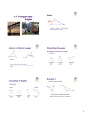 triangles and angles