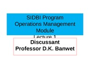 Lecture 1 Operations Mgt Intro & Overview