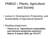 4- Farming Systems Development, Productivity, and Sustainability