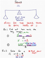 Math 9 Solving Notes
