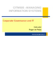 Class 5 - Corporate Governance and IT