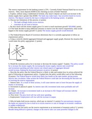 Economics Problem Set Week 15