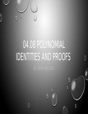04.08 Polynomial Identiies and Proof.pptx