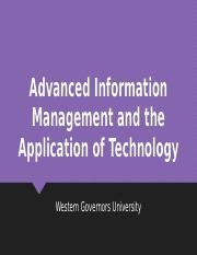 Task 2 Powerpoint C791 pptx - Advanced Information Management and