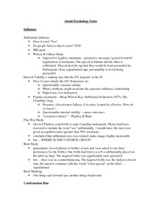 Social Psychology Notes EXAM 2