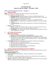 ���ITM_309_Exam_Two_Review 2010