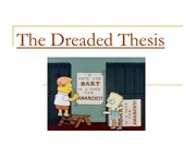Thesis Statement PowerPoint LECTURE