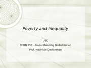 Lecture 4 - Poverty and Inequality