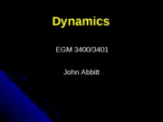 Dynamics introduction