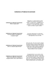 Flashcards Unit IV - Institutions of National Government