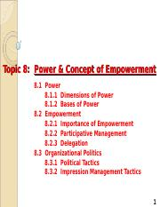 Topic 8 Power & Concept of Empowerment (1).ppt