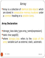 (Lecture 7) Array