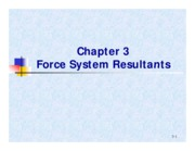 CV2101 Chapt 3 - Force System Resultants