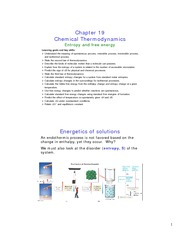 Study Guide on Chemical Thermodynamics