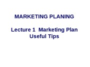 Marketing Plan useful tips