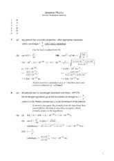 Quantum Physics Review Solutions