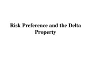 Risk Preference and Delta Property