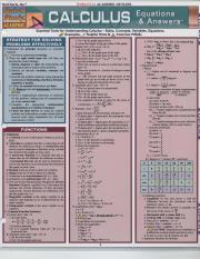 Calculus Equations and Answers - qs