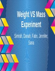 Weight Vs Mass.pptx