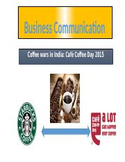 Coffee Wars In India 2015 .pptx