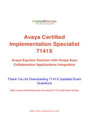 Avaya 7141X Exam Questions Updated - Quick Tips to Pass.pdf