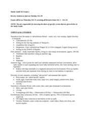ISB 200 Fall 2013 Study Guide for Exam 2