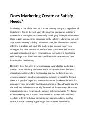 Does Marketing Create or Satisfy Needs.docx