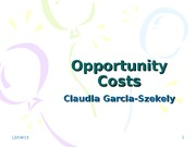OpportunityCosts
