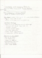 BUS ADM 426 Lecture Notes on Developing and Managing Products