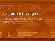 Module 11-cognitive therapies (1)