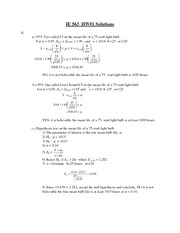 IE 563 HW#1 Solutions