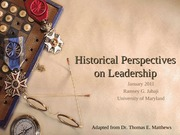 History of Leadership Adapted 2011