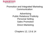 Lecture 9 -- Promotion and Integrated Marketing Communication