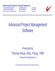 7_Advanced PM Software Revised 2016-09-20