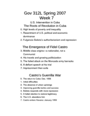 Gov 312L Spring 2007 Week 7 outline