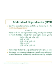 L24 - multivalued dependencies