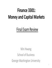 Lecture Note Final Review FINA 3301 2017 Spring rev