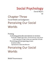 Chapter 3 - Social Beliefs And Judgments