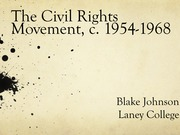 History 7B Civil Rights Movements Lecture Notes