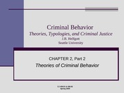 Module 2 part 2 - Theories of Criminal Behavior - Lecture Notes