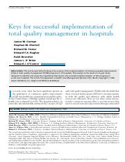 Keys_for_successful_implementation_of_TQM in hospitals