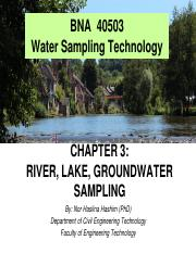 Chapter 3 - Taking an Environmental Sample