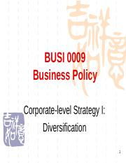 Lecture 7S Corporate-level Strategy I Diversification Mar 25 2013