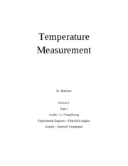 Lab 2 -Temperature Measurement