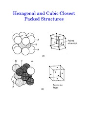 Hexagonal and Cubic Packed Structures