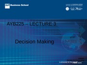 SAYB225 Lecture 03 Sem 1 2014