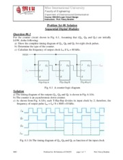 CSE255 Logic Problem Sheet #6 SOLUTION Sequential Digital Modules