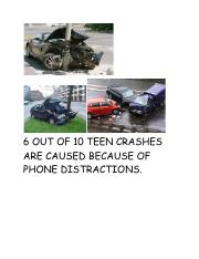 6 OUT OF 10 TEEN CRASHES ARE CAUSED BECAUSE OF PHONE DISTRACTIONS.pdf