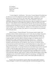 harrison bergeron writing assignment at the end of kurt 3 pages harrison bergeron short essay